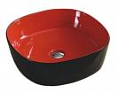 Раковина CeramaLux Color Edition Nc358 44 см красный/черный