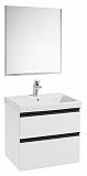 Мебель для ванной Roca Domi 60 см, 2 ящика, белый глянец
