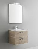 Мебель для ванной Arbi Petit 60  с зеркалом светлое дерево