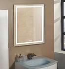 Зеркало Relisan Wendy 50x70 см, с подсветкой и часами