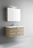 Мебель для ванной Arbi Petit 80 с зеркальным шкафом светлое дерево