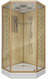 Душевая кабина Niagara Lux 7702DG 100x100, золото