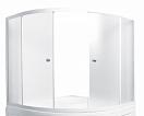 Шторка для ванны Marka One Aura 160x105 белый, прозрачный