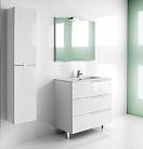 Мебель для ванной Roca Victoria Nord Ice Edition 80 см 3 ящика, белый