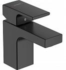 Смеситель для раковины Hansgrohe Vernis Shape 71560670, донный клапан, черный матовый