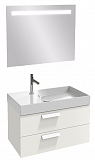 Мебель для ванной Jacob Delafon Rythmik 80 см, 2 ящика белый