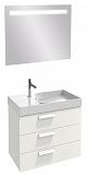 Мебель для ванной Jacob Delafon Rythmik 80 см, 3 ящика белый