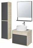 Мебель для ванной Акватон Лофт Урбан 65 см графит/дуб орегон