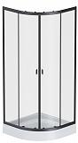 Душевой уголок Am.Pm X-Joy 80x80 прозрачный, черный