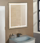 Зеркало Relisan Wendy 80x90 см, с подсветкой и часами