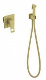 Смеситель Timo Briana 7189/17SM с гигиеническим душем, золото матовое